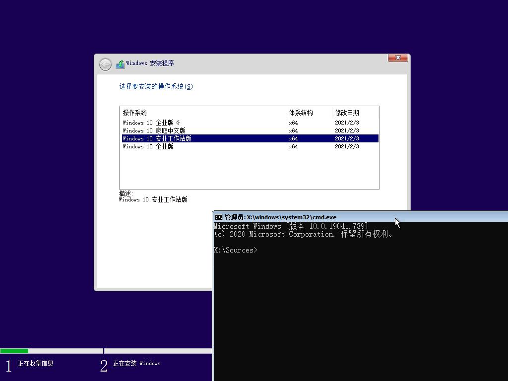 【YLX】Windows 10 19043.844 MUTI x64 2021.2.18